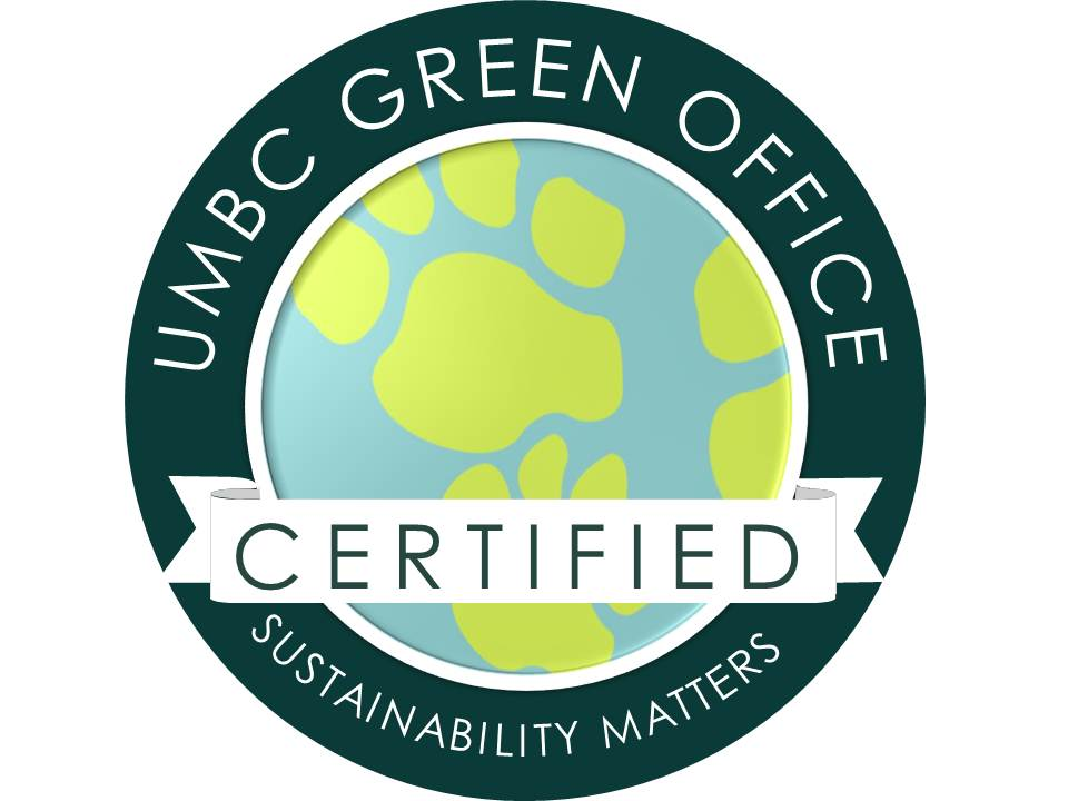 Staff Green Office Certification Sustainability Matters Umbc